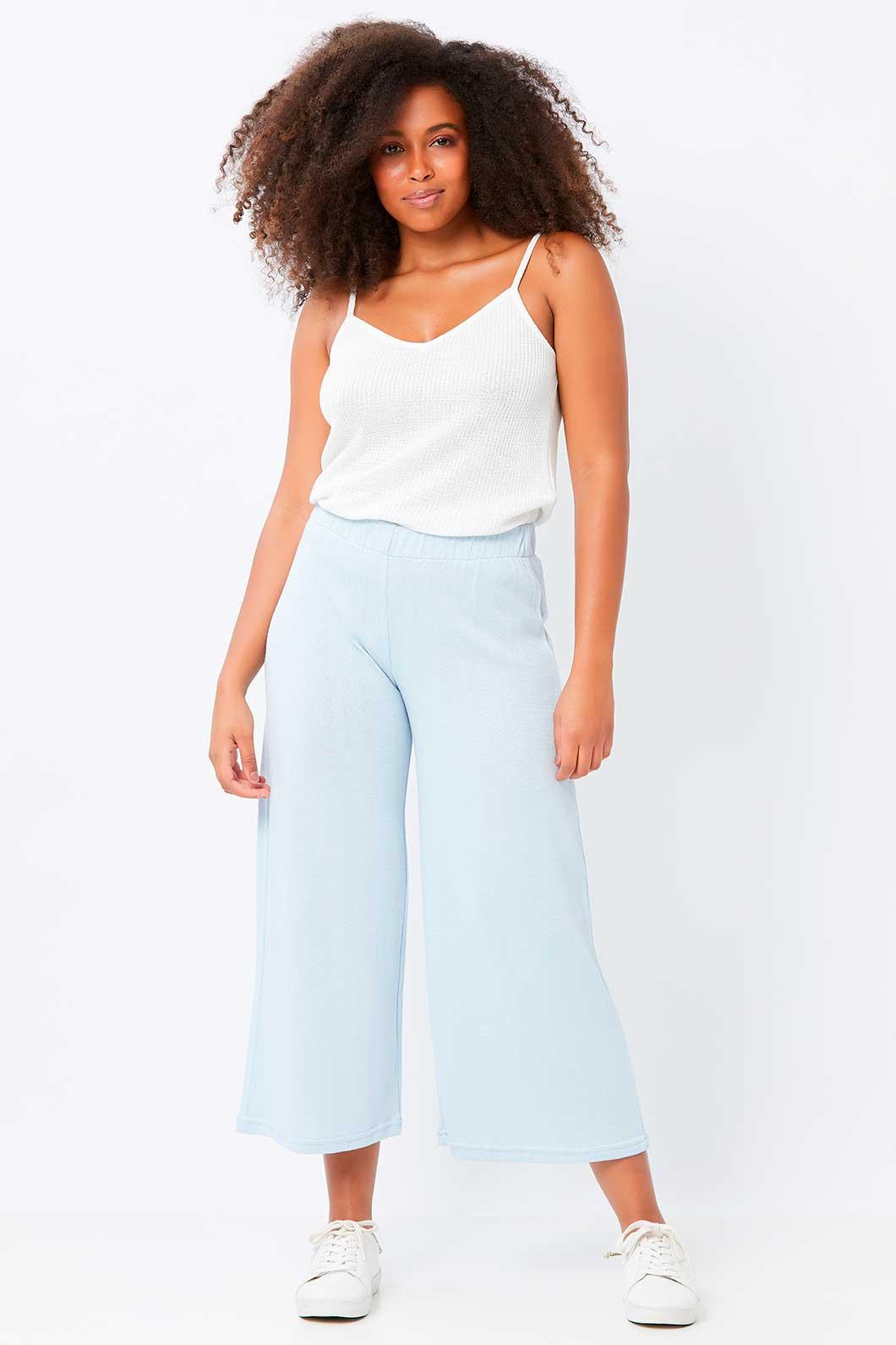 Calça Pantalona Pantacourt de Tricot