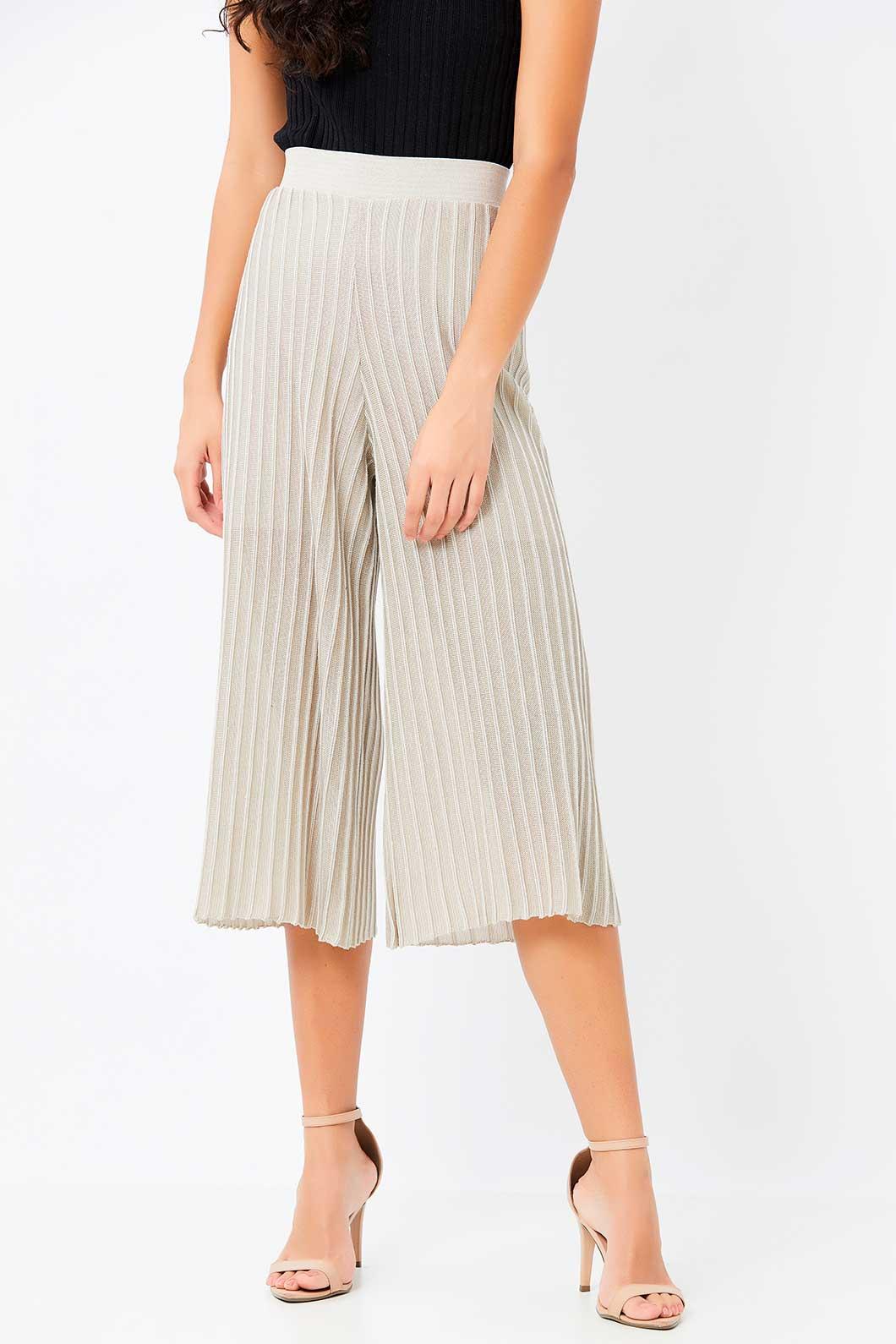 Calça Ralm Pantacourt Pantalona de tricot