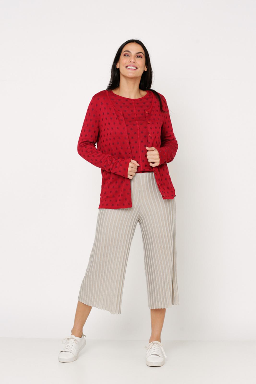 Conjunto de tricot Ralm twinset poás - Vermelho