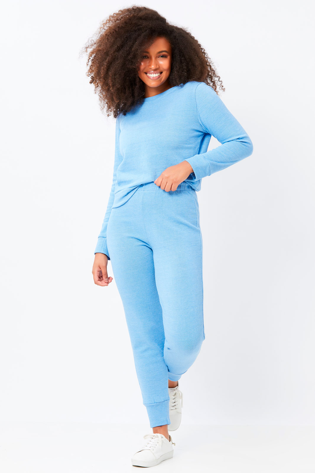 Conjunto Ralm Tricot  blusa manga longa e calça jogger