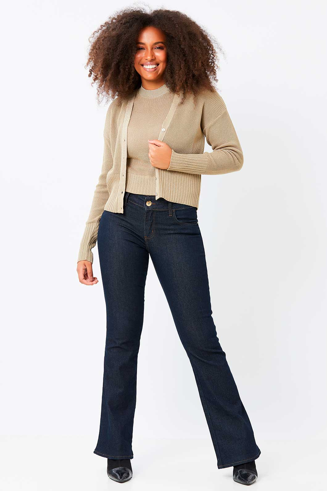 Conjunto Ralm  twinset de tricot - Dourado