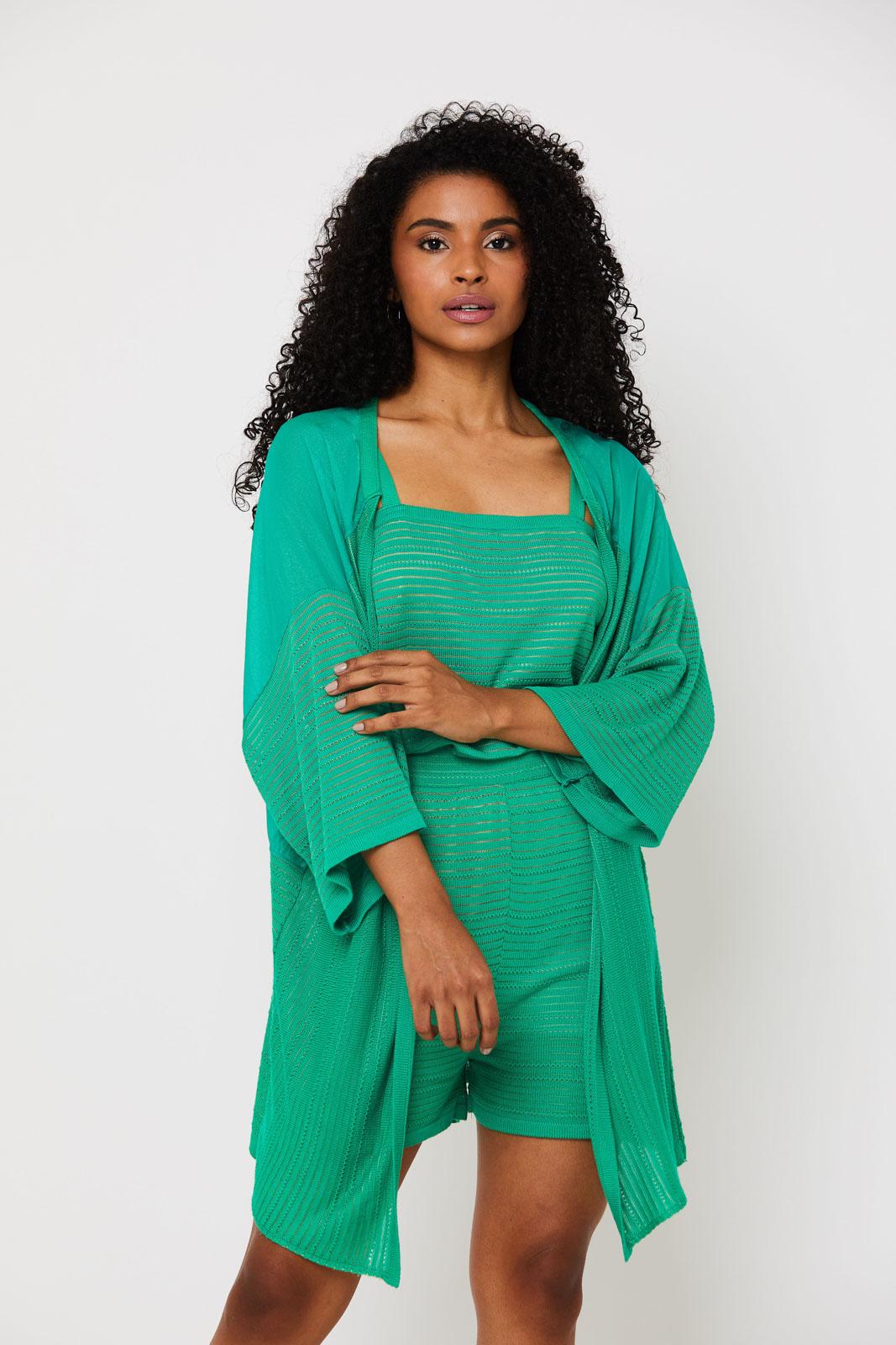 kimono de Tricot Ralm amplo  - Verde