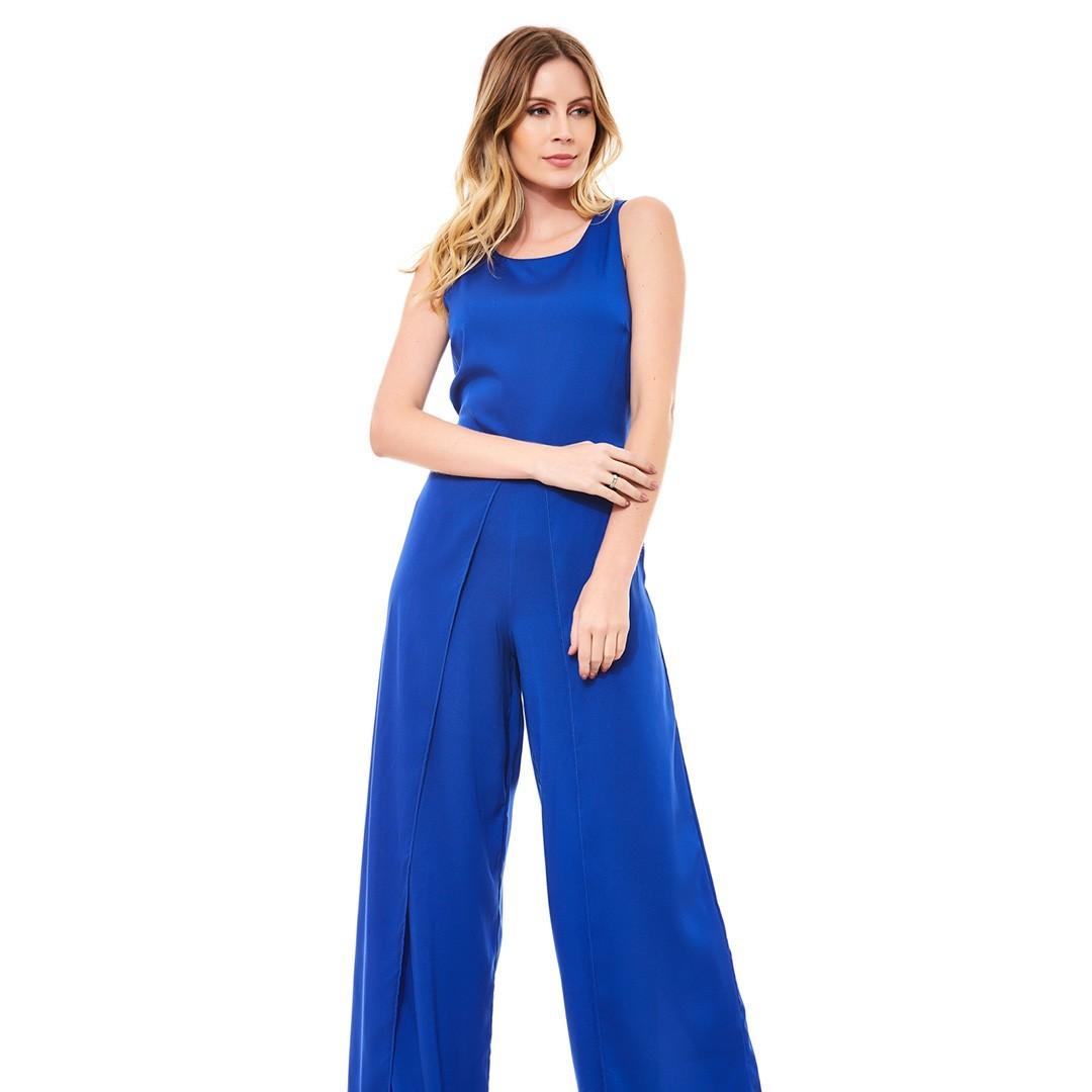 Macacão longo Pantalona - Azul