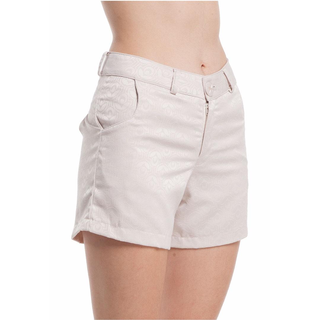 Shorts Com Bolso - Bege