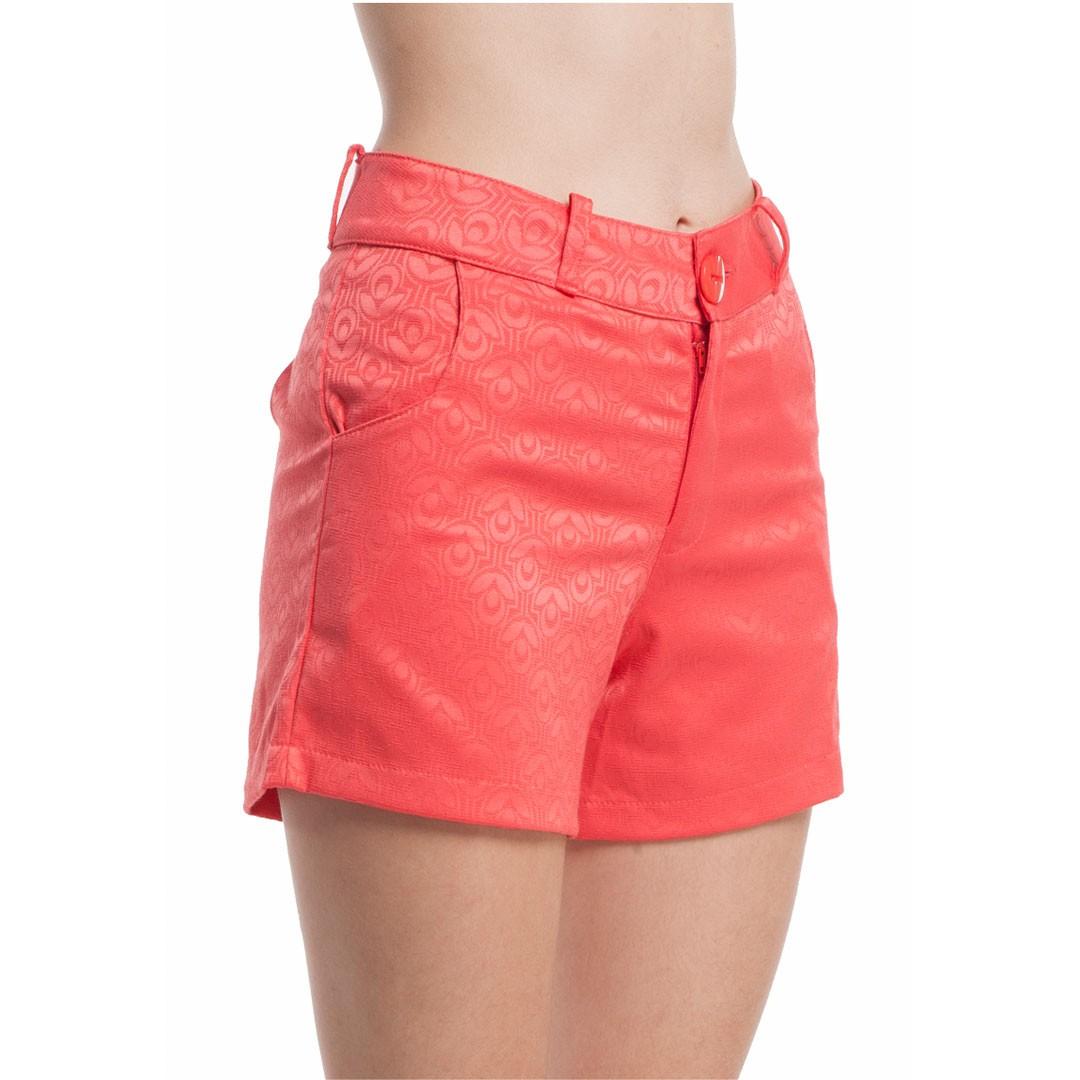 Shorts Com Bolso - Coral