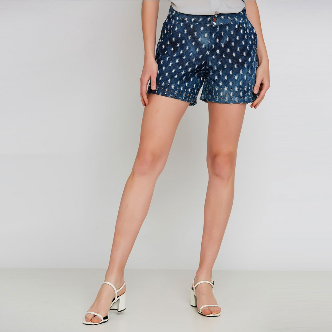 Shorts jeans - Azul Marinho