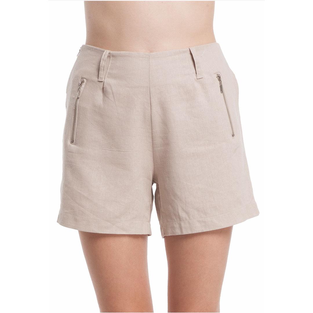 Shorts Linho - Bege