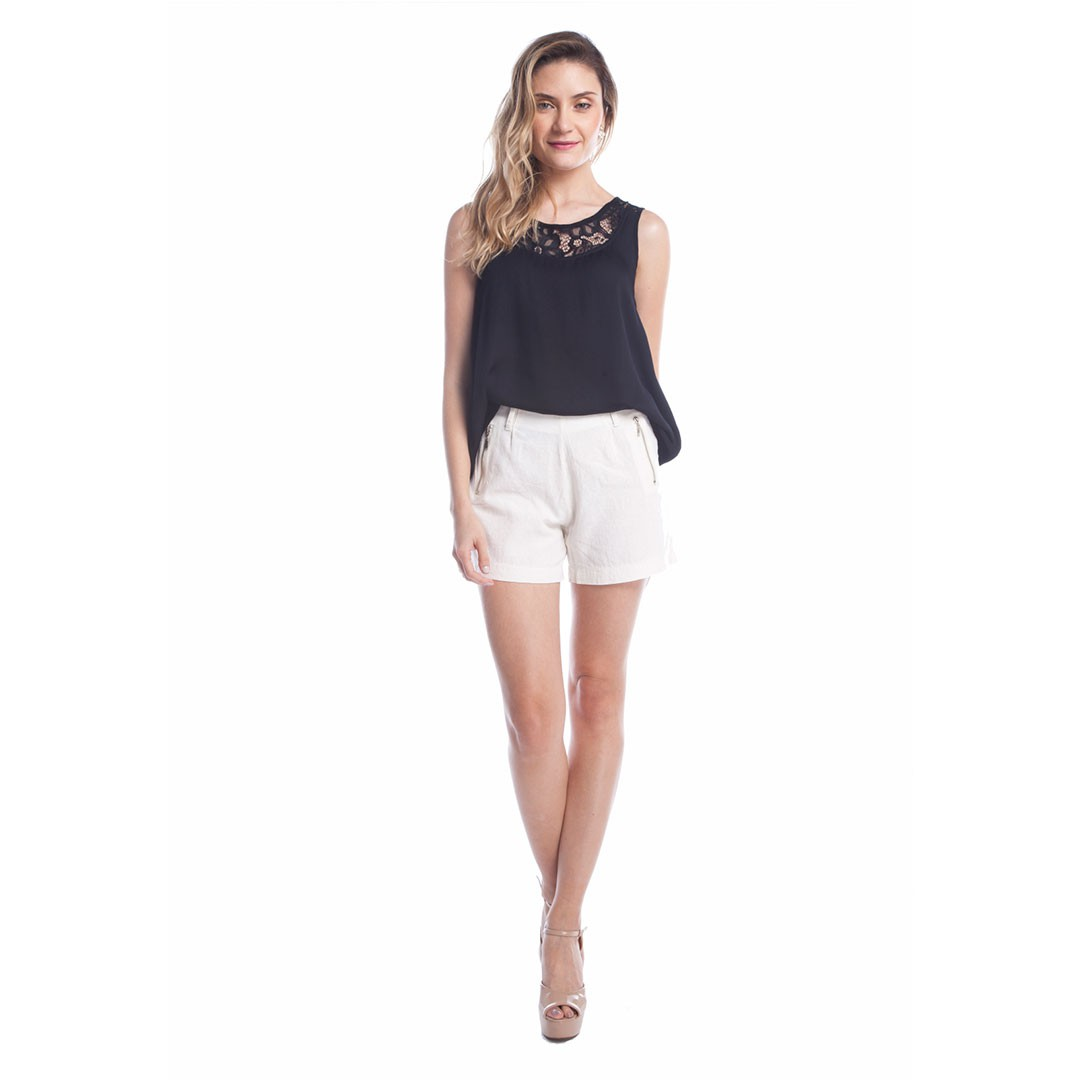 Shorts Linho - Off White