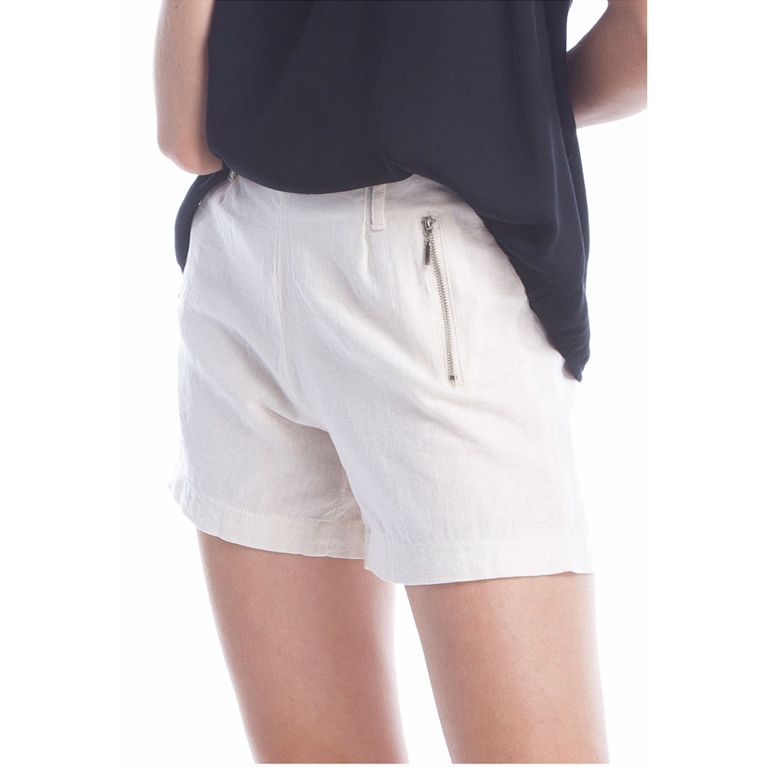Shorts Linho - Off White