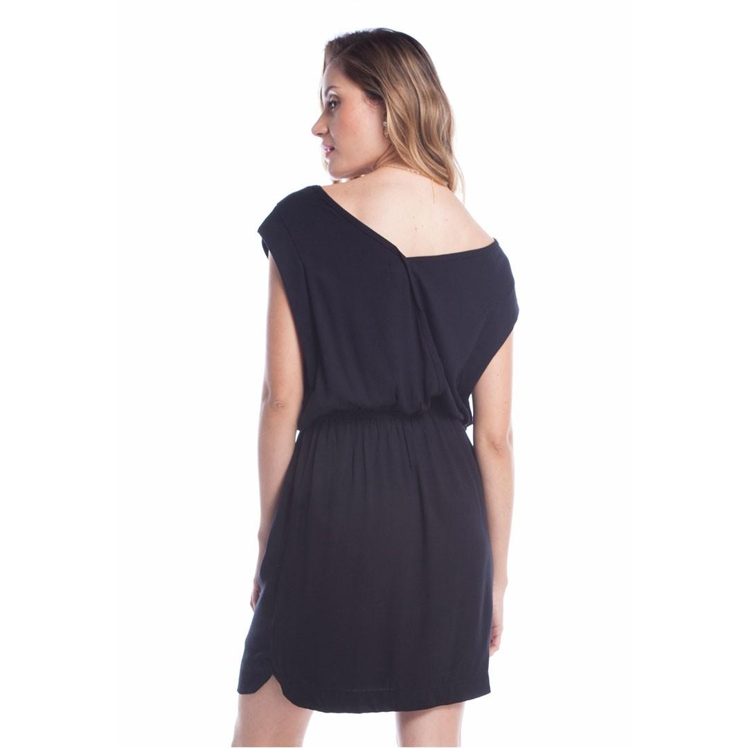 Vestido Crepe Ralm - Preto