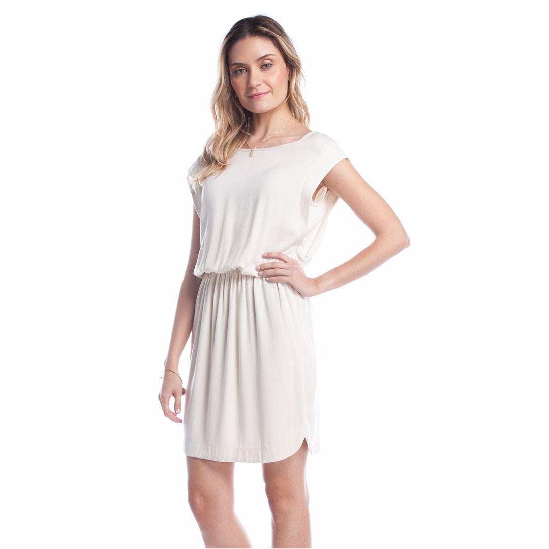 Vestido Crepe Ralm - Bege