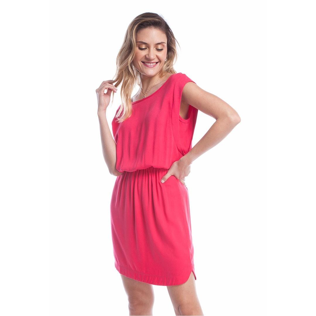 Vestido Crepe Ralm - Rosa