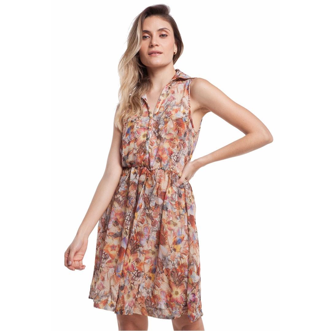 Vestido  Estampado - Laranja