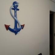 Ancora Azul Decoração Apartamento Praia Resina 74cm