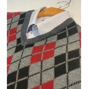 Blusa De Frio Para Homem Suéter Escocês Social Grosso Até Gg