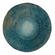 Mandala Azul Decoração Zen Esotérica Feng Shui Resina 88cm