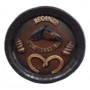 Tampa De Barril Cavalo Decoração Churrasqueira Gourmet 44cm