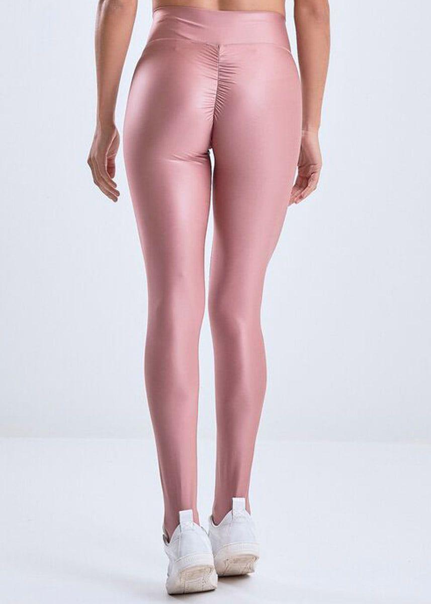 Calca Legging Feminina Glossy Dark Pink Fcl13673