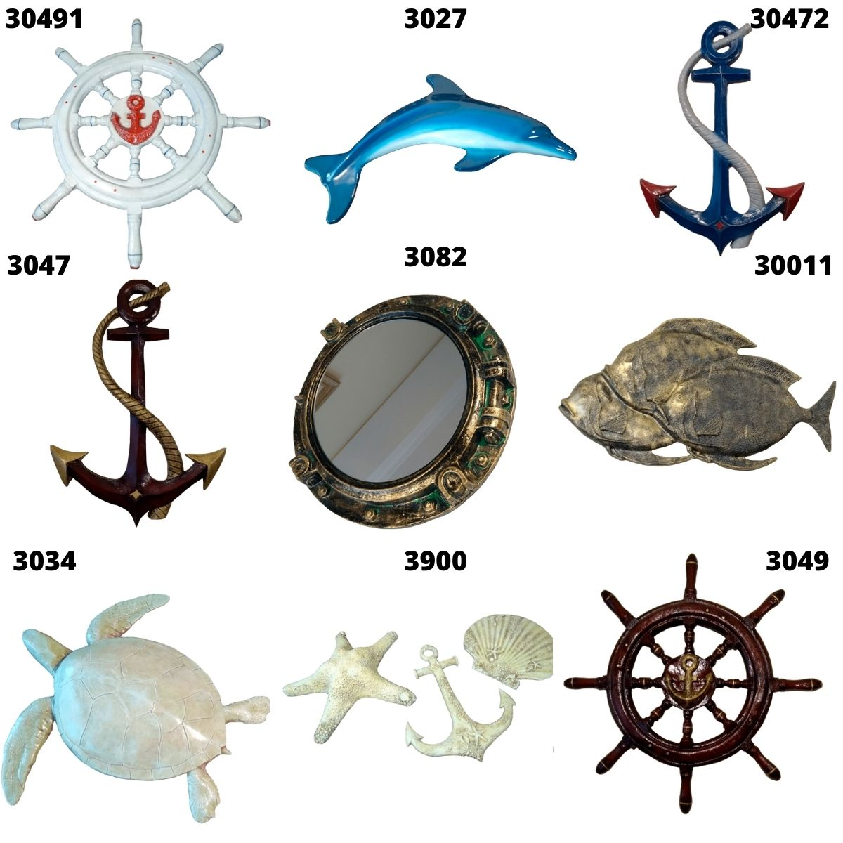 Concha Marinha Decorativa Enfeite Parede Praia Resina 11x10