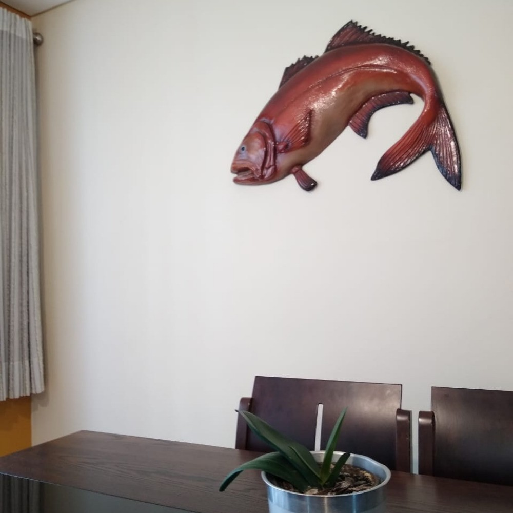 Nemo Peixe Palhaço Em Resina P/decoração Parede Praia 79cm