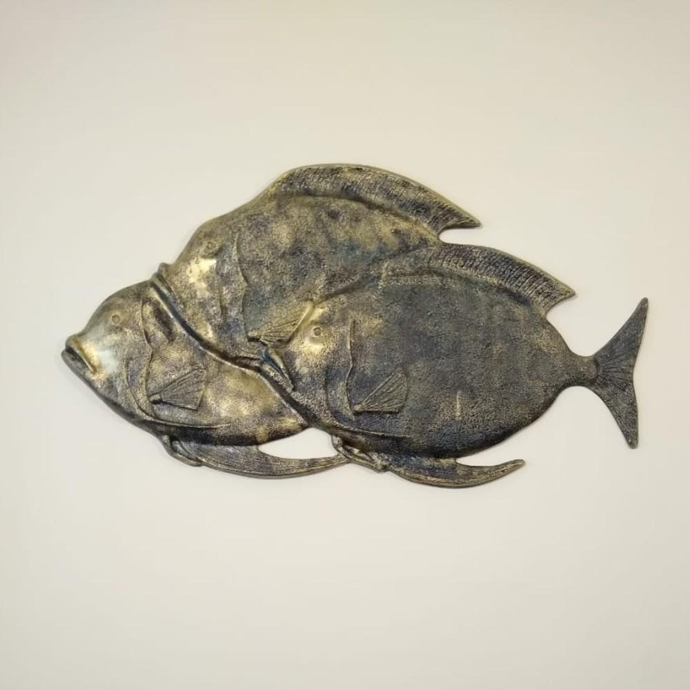 Peixe Garoupa Enfeite Decorativo Resina Parede Pescador 86cm