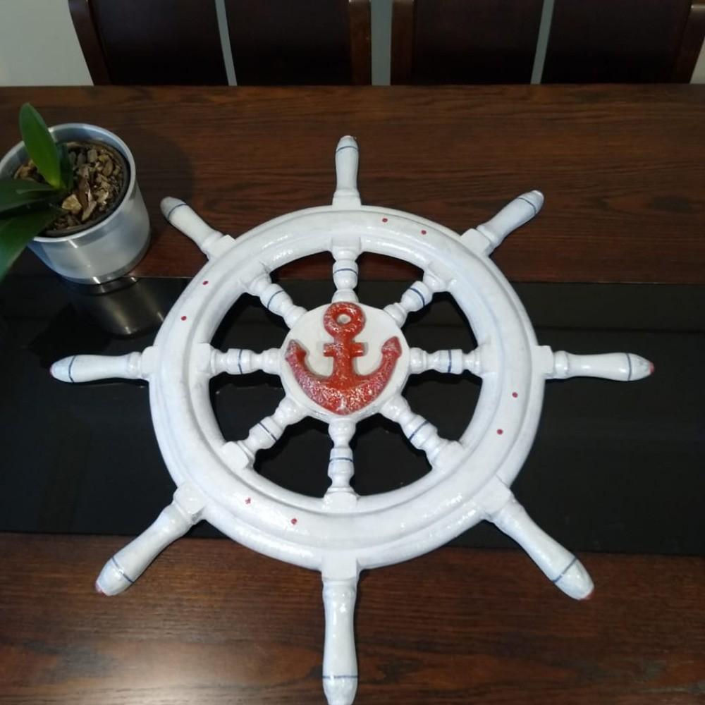 Pirata Marinheiro Marujo Decoração Praia Barco Resina 3pçs
