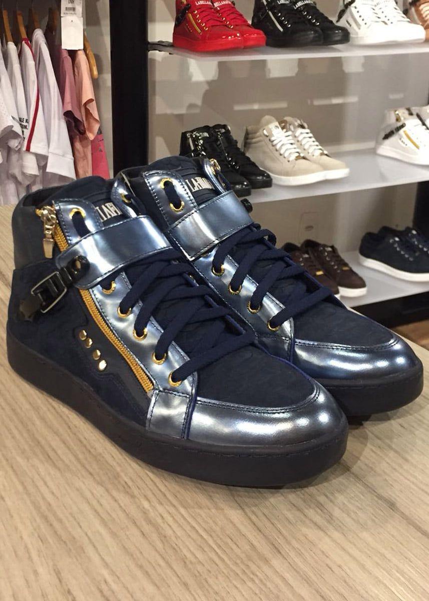 Tenis Sneaker Masculino La Mafia Crocodile Blue LM102201