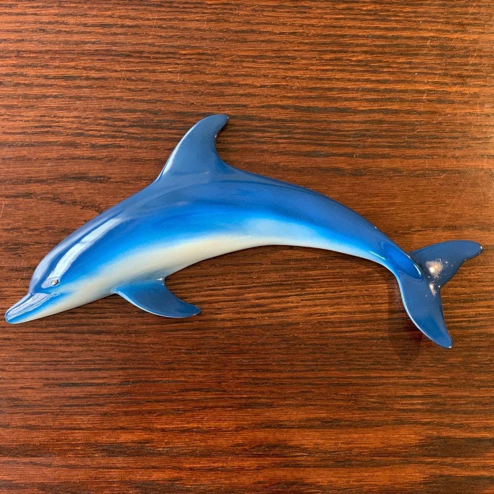 Trio De Golfinhos Peixe Resina Decoração Parede Praia 28cm