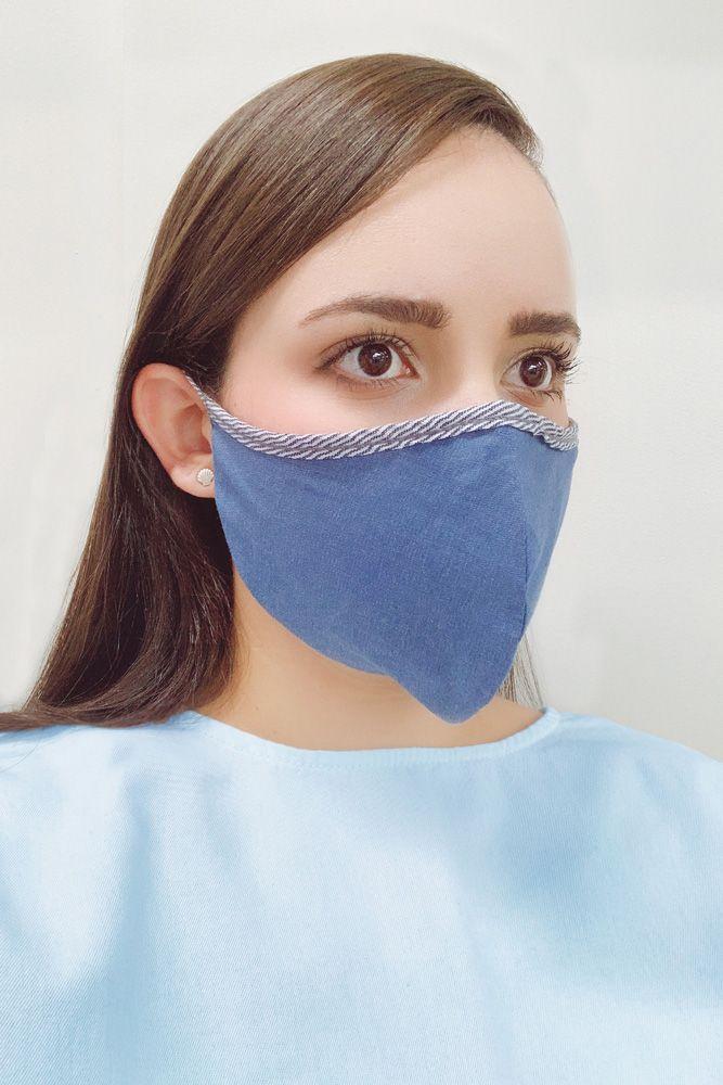 Máscara Unissex Anatômica Reutilizável de Algodão - Pacote com 10 unidades