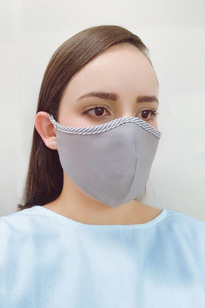 Máscara Unissex Anatômica Reutilizável de Algodão - Pacote com 50 unidades