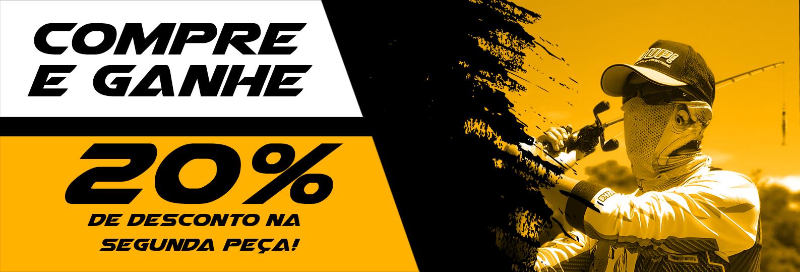 20% de Desconto na Segunda Camiseta Brk Fishing!