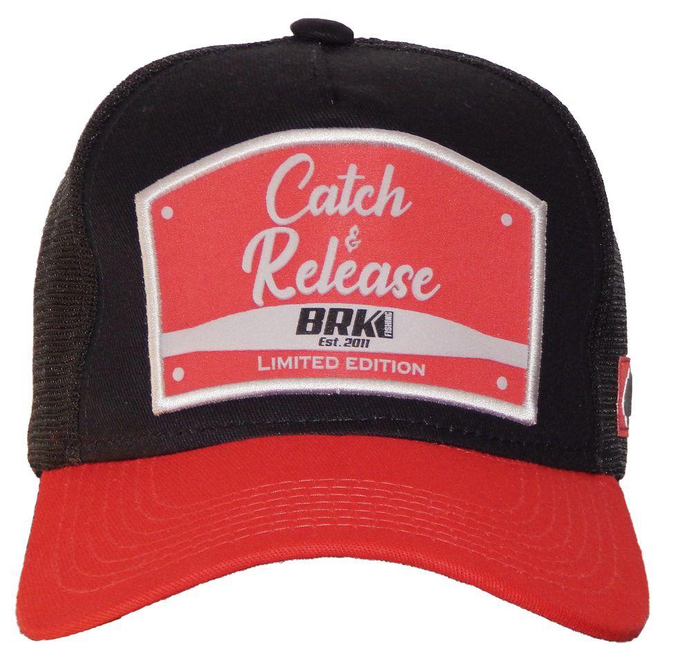 Boné de Pesca Brk Catch and Release Vermelho com Cinza