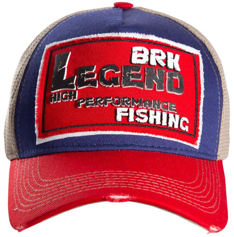 Boné de Pesca Brk Legend RedBlue