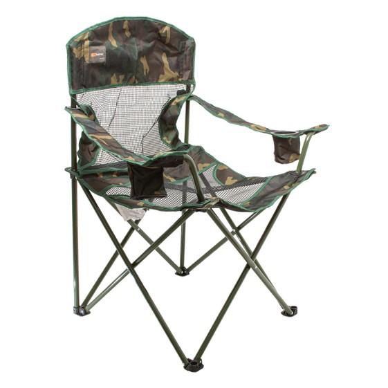 Cadeira Dobrável Pesca e Camping Fresno Camuflada - Nautika Ntk