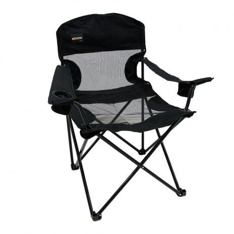 Cadeira Dobrável Pesca e Camping Fresno Preta - Nautika Ntk