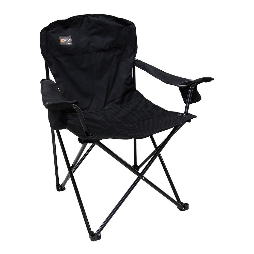 Cadeira Dobrável Pesca e Camping Pandera Preta - Nautika Ntk