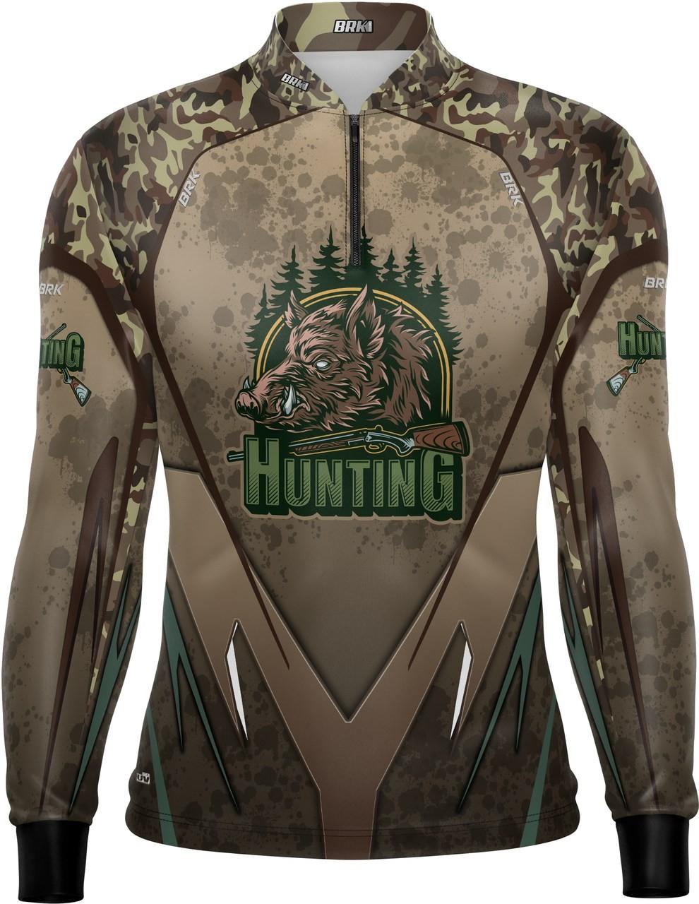 Camisa de Caça Brk Hunter Marrom com FPU 50+