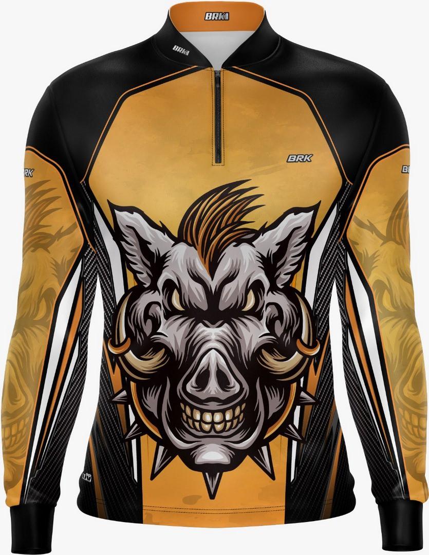 Camisa de Caça Brk Javali Bege-Preto com FPU 50+