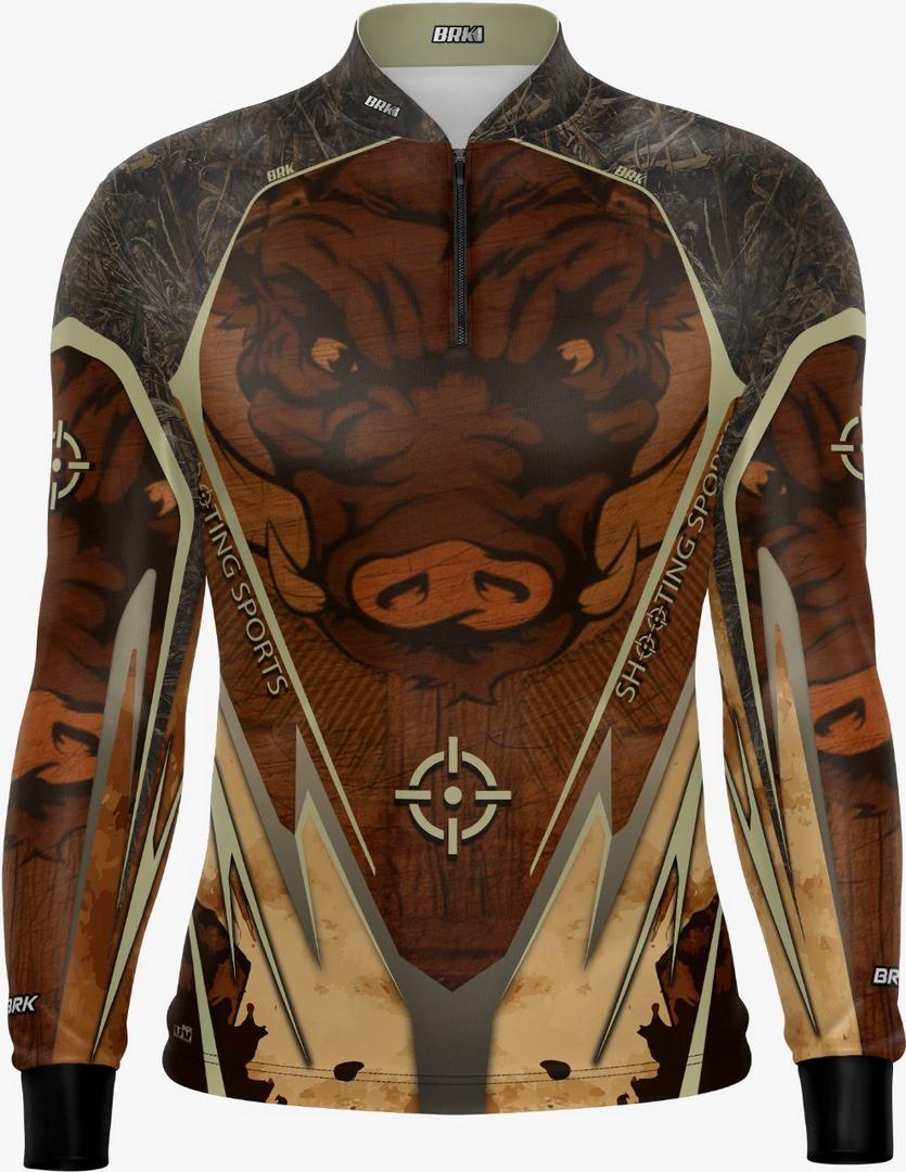 Camisa de Caça Brk Javali Marrom-Bege com FPU 50+