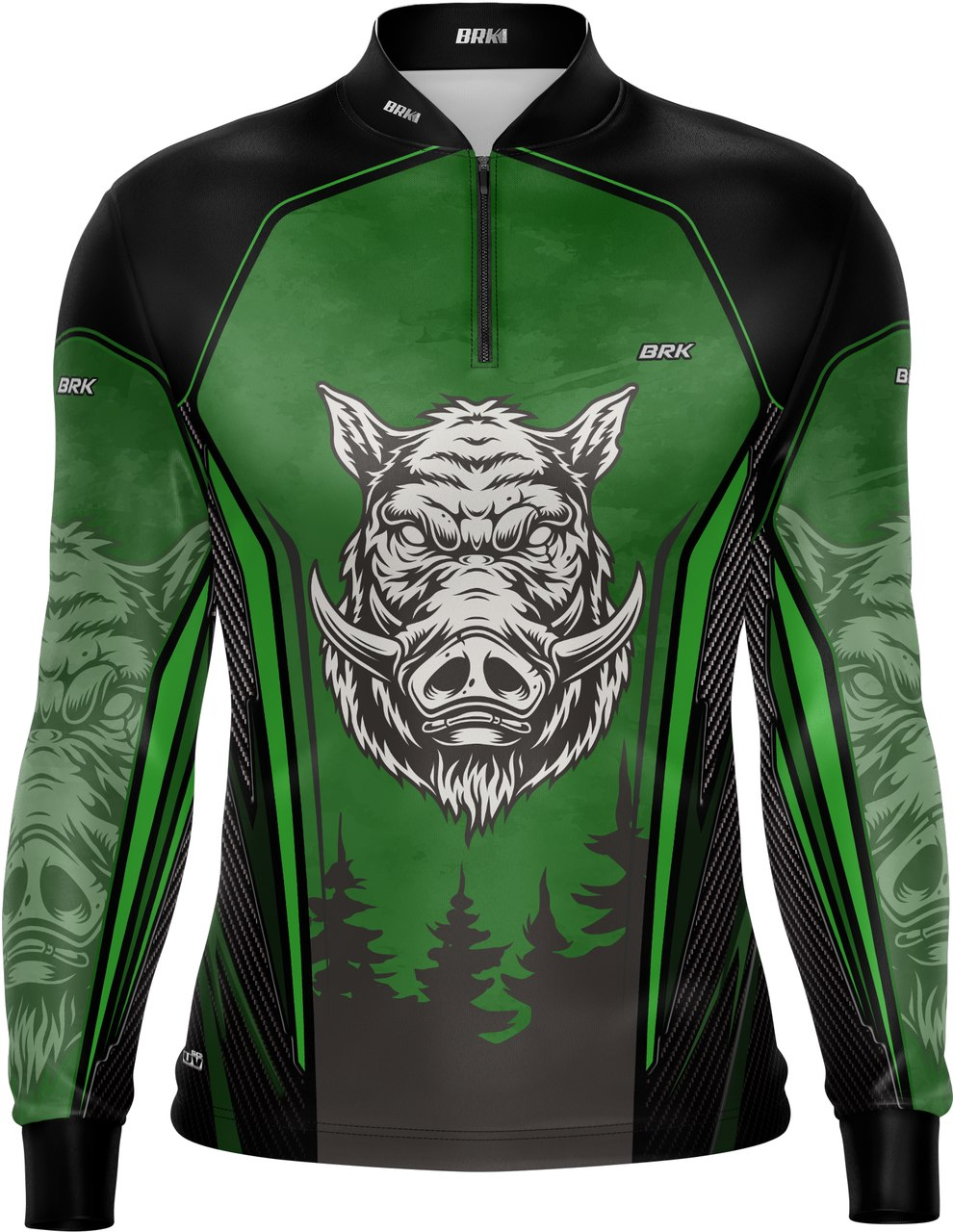 Camisa de Caça Brk Javali Verde com FPU 50+
