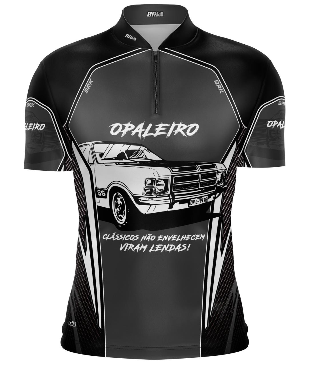 Camisa de Carros Antigos Brk Opala Preto com Proteção UV 50+
