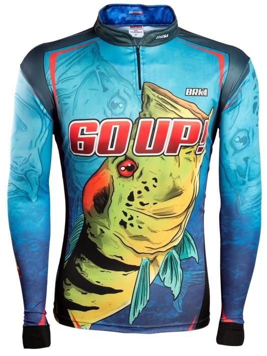 Camisa de Pesca Brk 60UP Azul com FPU 50+