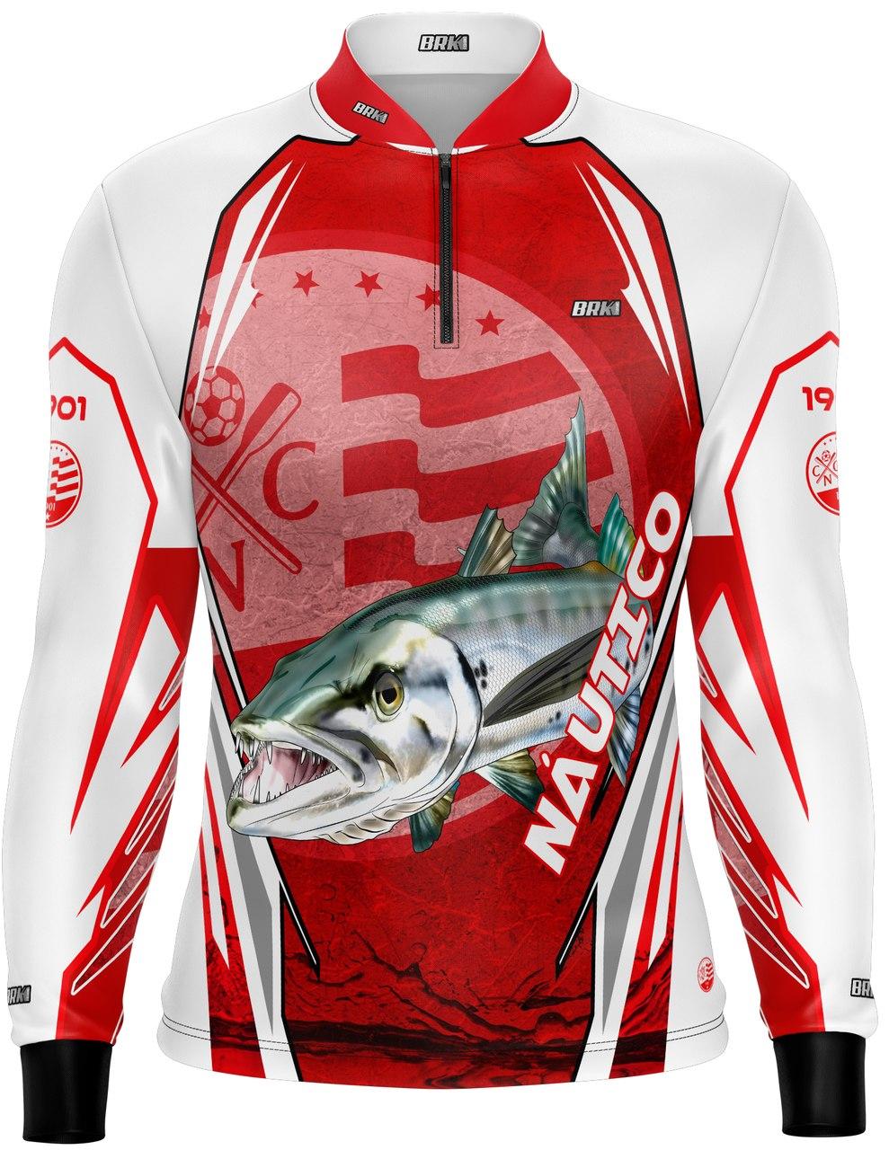 Camisa de Pesca Brk Barracuda Futebol 38 com fpu 50+