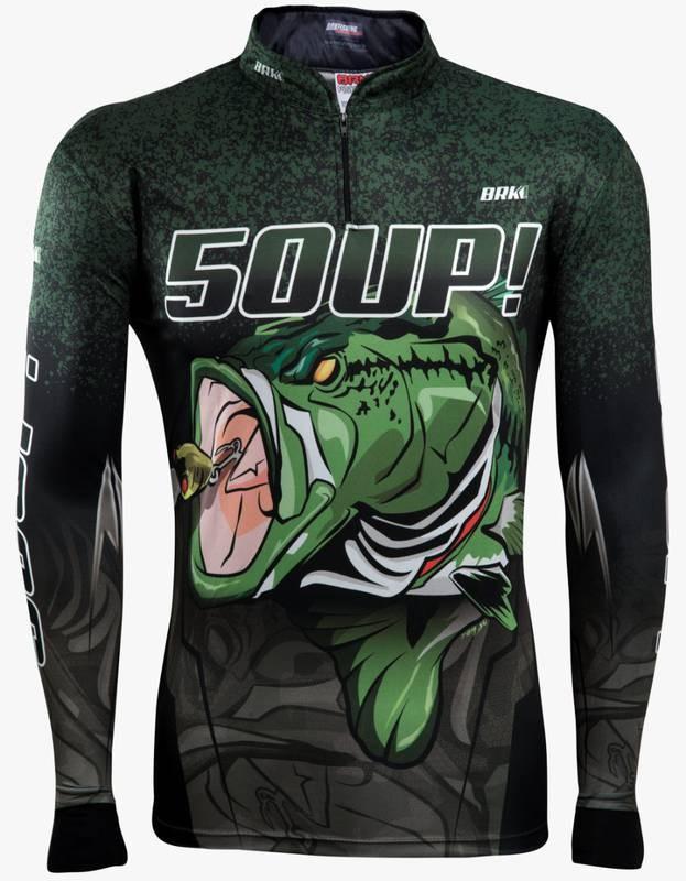 Camisa de Pesca Brk Black Bass 50UP! com FPU 50+