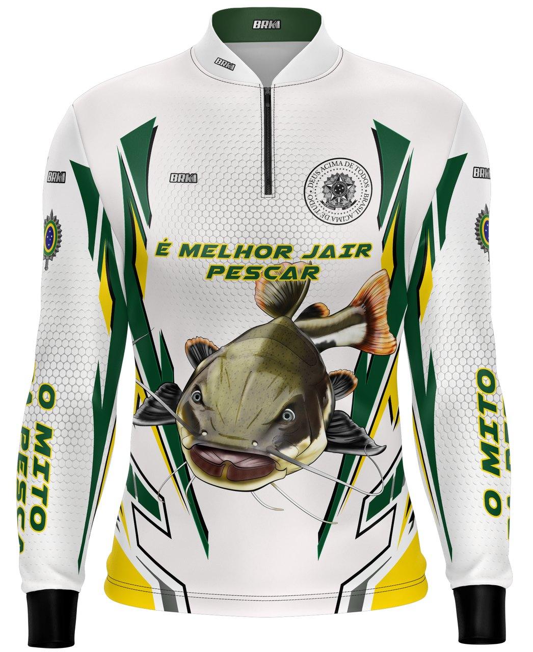 Camisa de Pesca Brk Bolsonaro o Mito Pirarara com fpu 50+