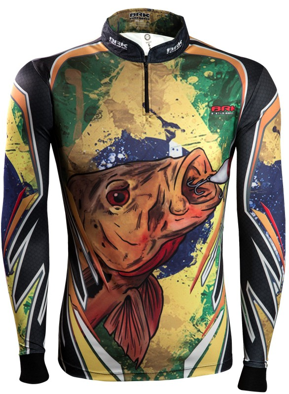 Camisa de Pesca Brk Brasil Fishing com FPU 50+