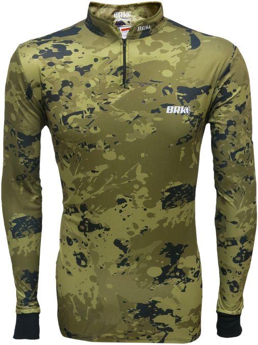 Camisa de Pesca Brk Camuflada Caqui com FPU 50+