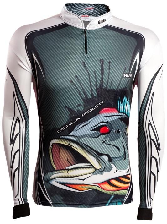 Camisa de Pesca Brk Cichla Branca com FPU 50+