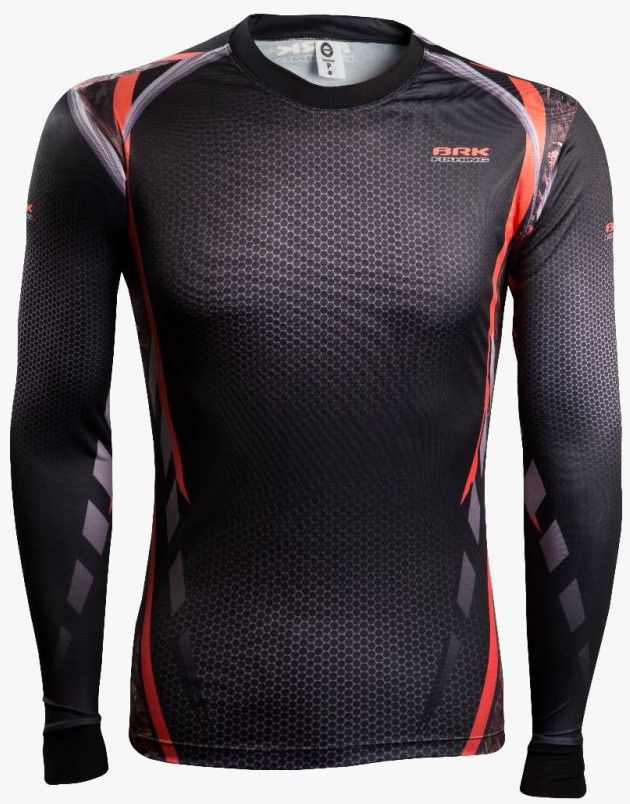 Camisa de Pesca Brk Combat Fish Camo Orange 1.0 com FPU 50+