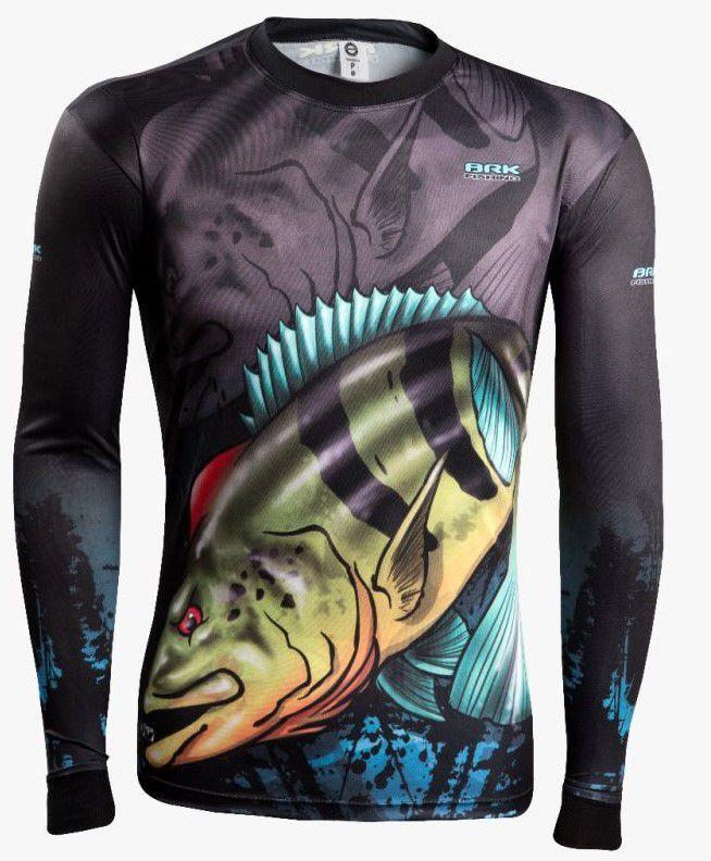 Camisa de Pesca Brk Combat Fish Tucunaré Azul 1.0 com FPU 50+